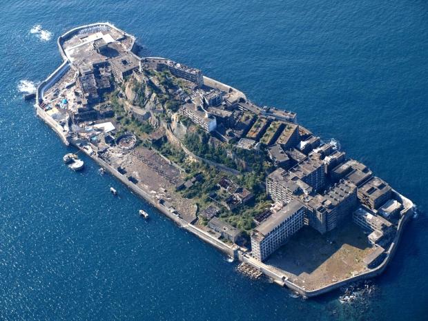 Panorámica aérea de Hashima