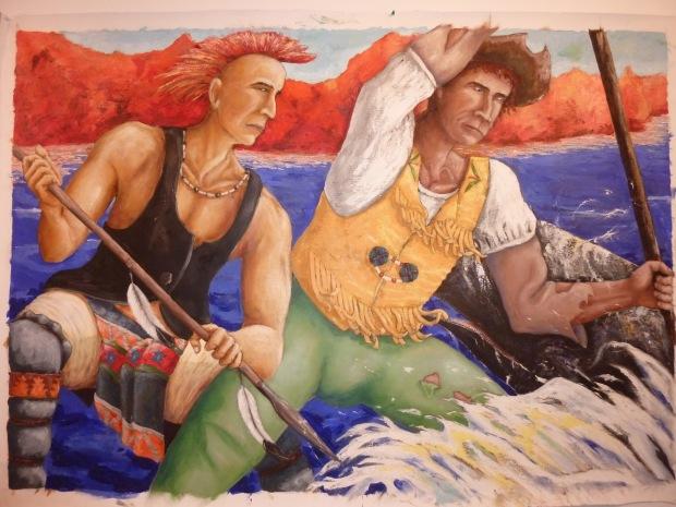 Escena de pesca de balea Vasco-Canadiense. (Michel Hacala)