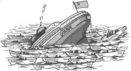 Cando a URSS se foi a pique, todos quixeron ter o seu bote propio.