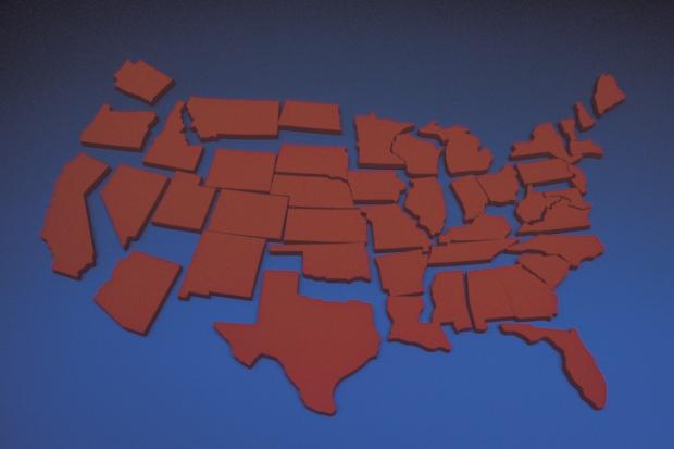 Coidado, non vos pasedes dividindo os Estados Unidos